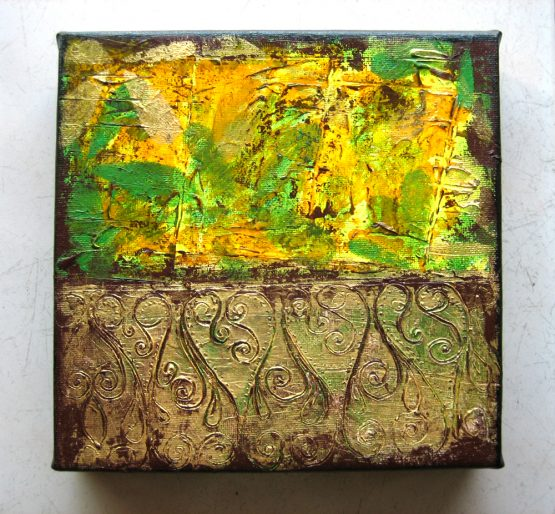 Victorian - Origninal Texture Acrylic Painting on Canvas