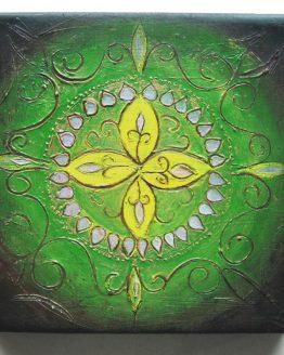 Rangoli IV - Original Abstract Textured Painting on Canvas