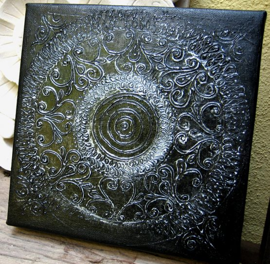 Metallic II - Original Textured Painting on Canvas