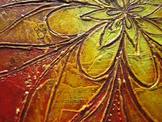 mandala - original textured acrylic painting
