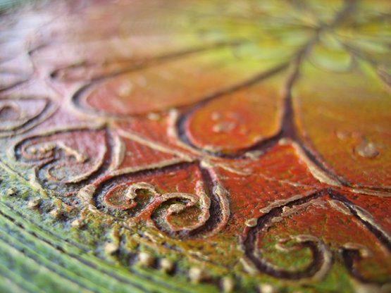 mandala II - original textured acrylic painting