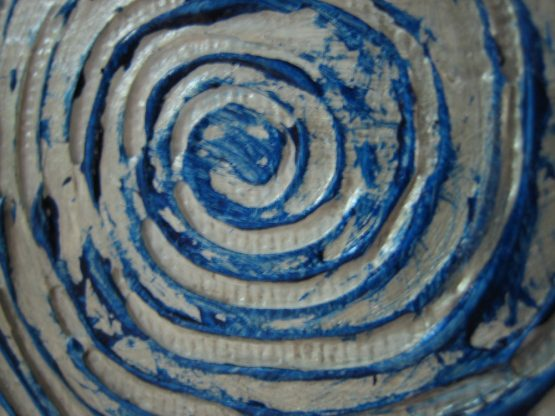 Rangoli III - Original Abstract Textured Painting on Canvas