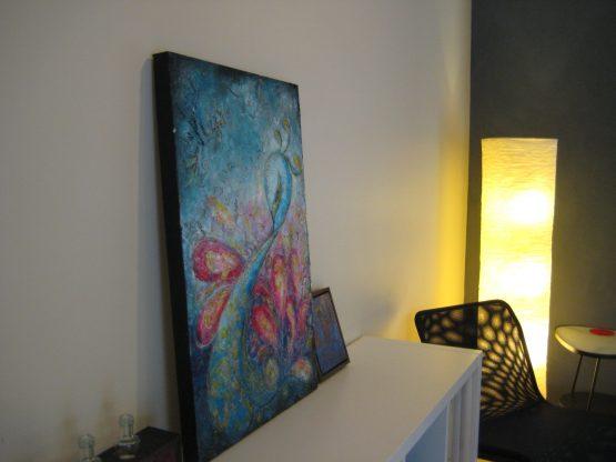 Flourish - Large Peacock Painting on Canvas